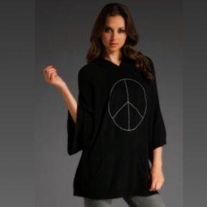 BLACK Wildfox ☮️ Peace Oversized Poncho